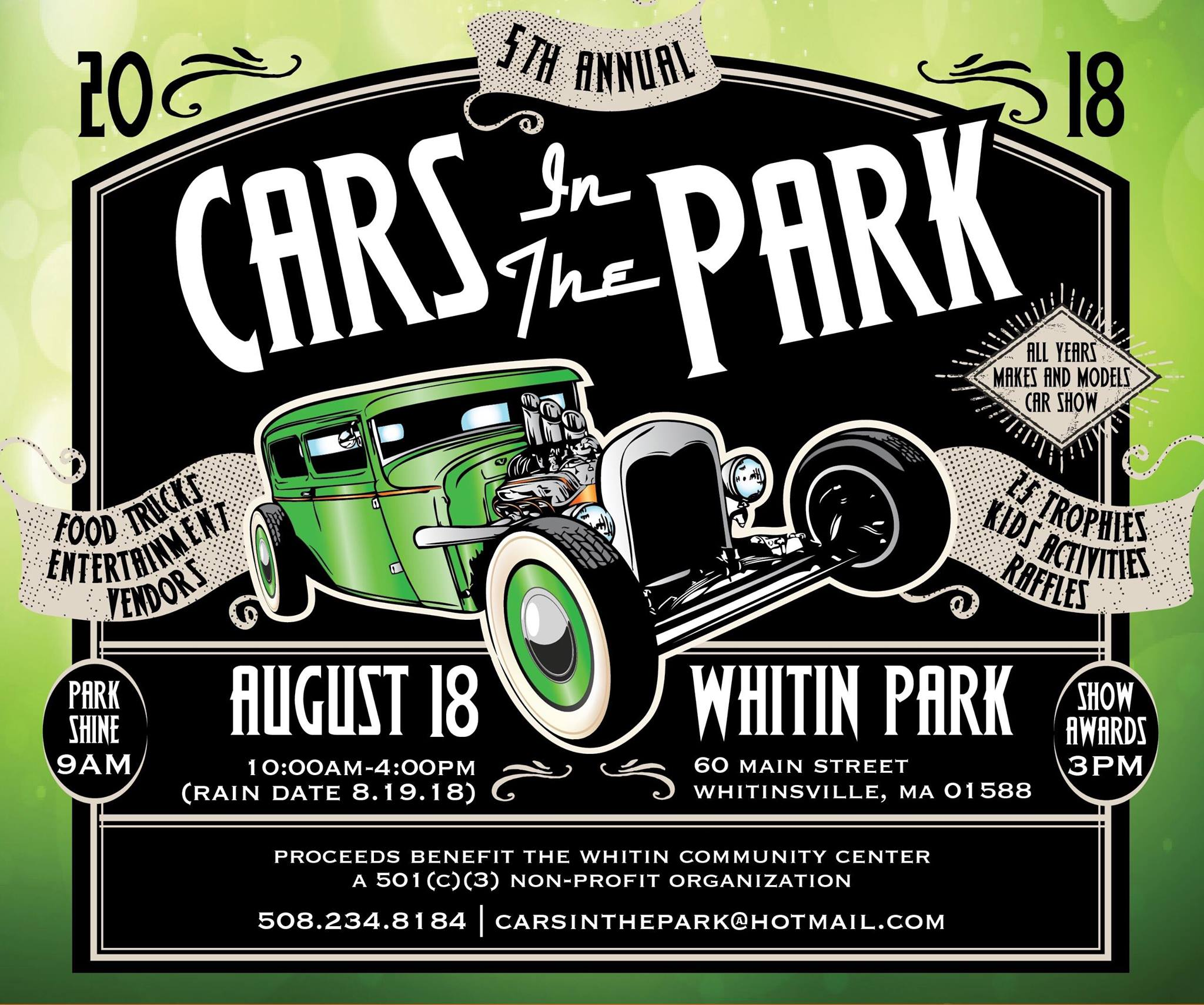 Cars In The Park Whitinsville MA - Millville car show 2018